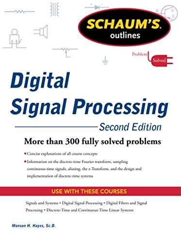 9780071635097: Schaums Outline of Digital Signal Processing, 2nd Edition (Schaum's Outline Series)