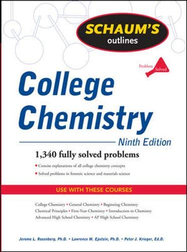 9780071635301: Schaum's Outline of College Chemistry, Ninth Edition (Schaum's Outlines)