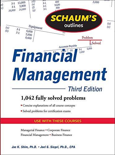 9780071635318: Schaum's Outline of Financial Management, Third Edition (Schaum's Outlines)