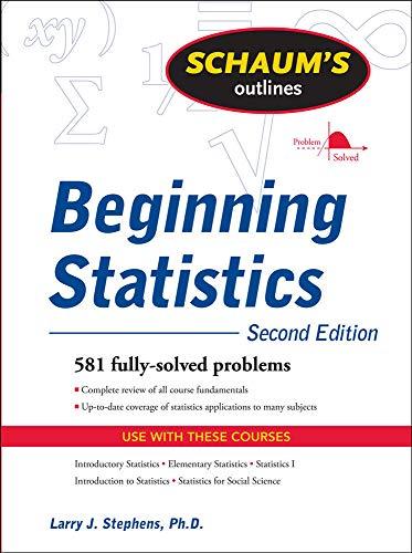 9780071635332: Schaum's Outline of Beginning Statistics, Second Edition (Schaum's Outlines)