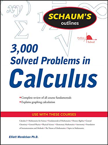 9780071635349: Schaum's 3,000 Solved Problems in Calculus (Schaums Outlines)