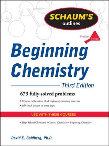 9780071635370: Schaum's Outline of Beginning Chemistry, Third Edition (Schaum's Outline Series)