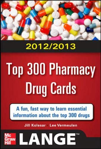 9780071636117: 2012-2013 Top 300 Pharmacy Drug Cards (Lange Flashcards)