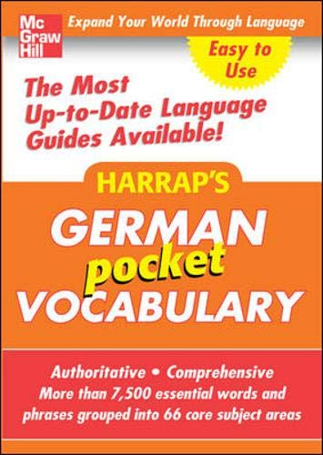 Harrap's Pocket German Vocabulary (Harrap's language Guides) (0071636226) by Harrap