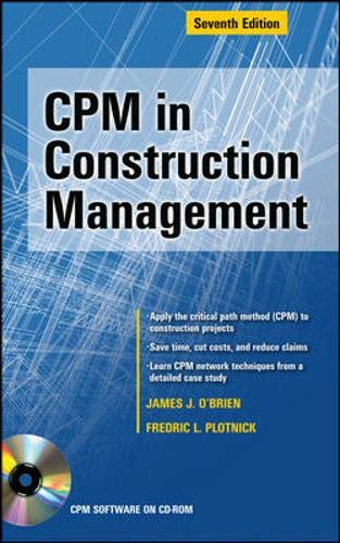 9780071636643: CPM in Construction Management, Seventh Edition