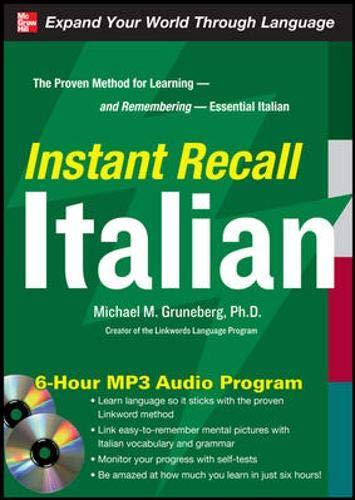 9780071637275: Instant Recall Italian, 6-Hour MP3 Audio Program