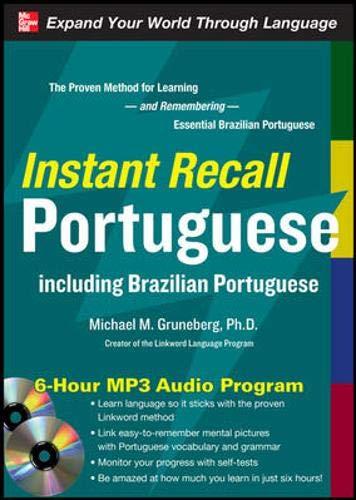 9780071637343: Instant Recall Portuguese, 6-Hour MP3 Audio Program: Including Brazilian Portuguese