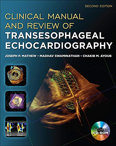 9780071638074: Clinical Manual and Review of Transesophageal Echocardiography, Second Edition
