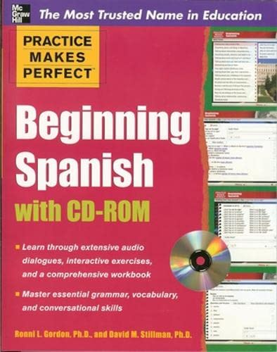 9780071638654: Practice Makes Perfect Beginning Spanish with CD-ROM (Pratice Makes Perfect)