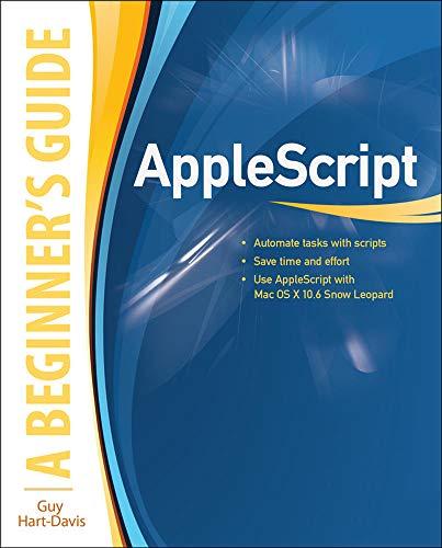 9780071639545: AppleScript: A Beginner's Guide (Programming & Web Development - OMG)