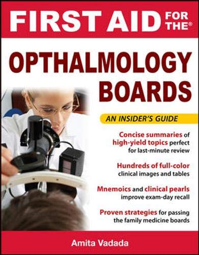 9780071663991: First Aid for the Ophthalmology Boards (FIRST AID Specialty Boards)