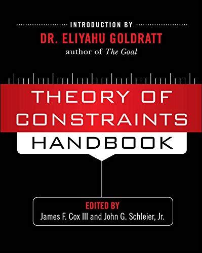 9780071665544: Theory of Constraints Handbook