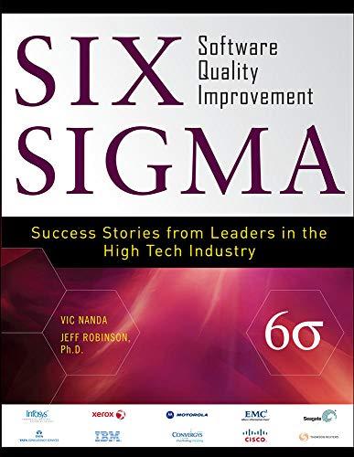 9780071700627: Six Sigma Software Quality Improvement