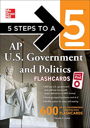 9780071700962: 5 Steps to a 5 AP U.S. Government and Politics Flashcards for your iPod with MP3/CD-ROM Disk (5 Steps to a 5 on the Advanced Placement Examinations Series)