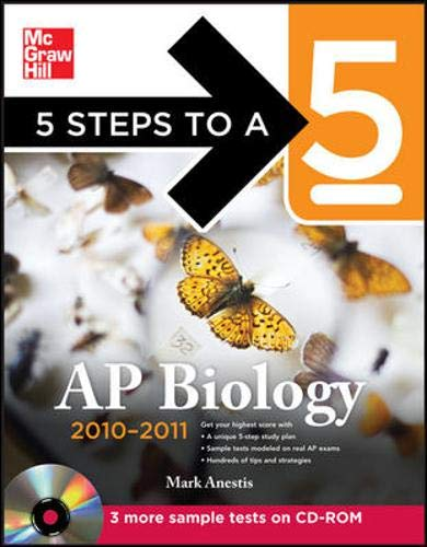 9780071702133: 5 Steps to a 5 AP Biology with CD-ROM, 2010-2011 Edition (5 Steps to a 5 on the Advanced Placement Examinations Series)