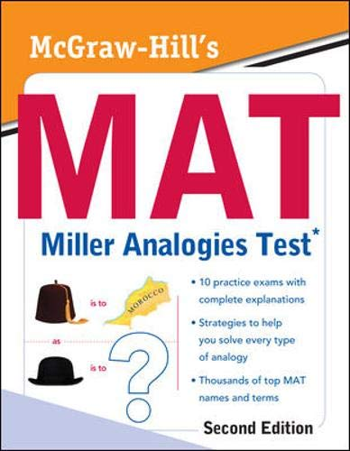 9780071702317: McGraw-Hill's MAT Miller Analogies Test, Second Edition