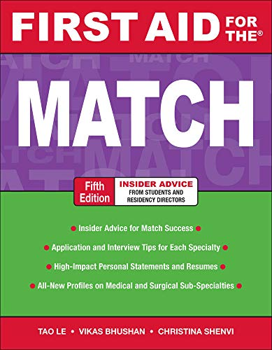 9780071702898: First Aid for the Match, Fifth Edition (First Aid Series)