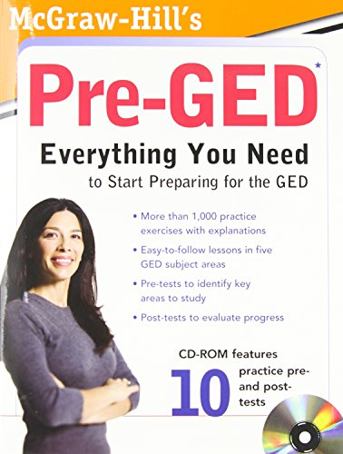 9780071703062: McGraw-Hill's Pre-GED with CD-ROM (McGraw-Hill's Pre-GED: Everything You Need to Start (W/CD))