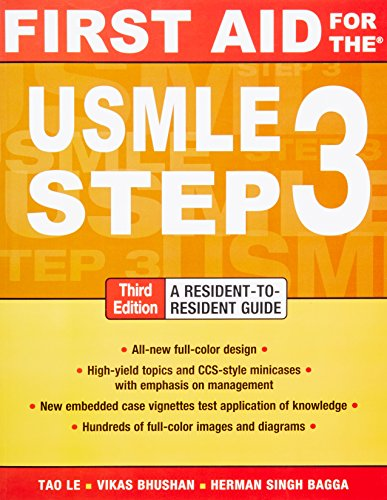 9780071712972: First Aid for the USMLE Step 3, Third Edition (First Aid USMLE)