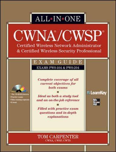 9780071713887: CWNA Certified Wireless Network Administrator & CWSP Certified Wireless Security Professional All-in-One Exam Guide (PW0-104 & PW0-204)
