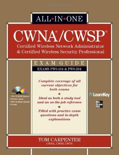 9780071713894: CWNA Certified Wireless Network Administrator & CWSP Certified Wireless Security Professional All-in-One Exam Guide (PW0-104 & PW0-204) (book)