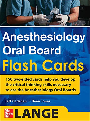 9780071714037: Anesthesiology Oral Board Flash Cards (Anesthesia/Pain Medicine)
