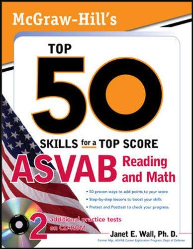 9780071718011: McGraw-Hill's Top 50 Skills For A Top Score: ASVAB Reading and Math with CD-ROM