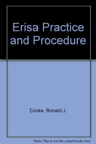 9780071721745: Erisa Practice and Procedure (Regulatory manual series)