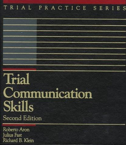 9780071726009: Trial Communication Skills (Trial Practice Series)