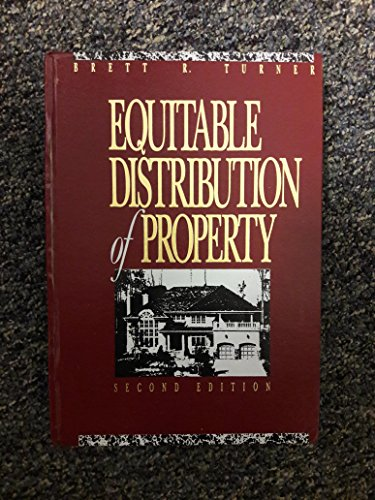 9780071726160: Equitable Distribution of Property/With 1998 Supplement