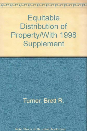 9780071726160: Equitable Distribution of Property/With 2000 Supplement
