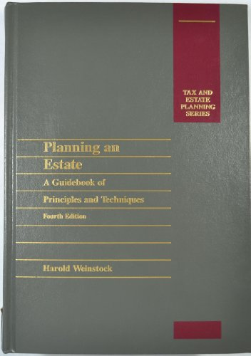 9780071727075: Planning an Estate: A Guidebook of Principles and Techniques (Tax and Estate Planning Series)
