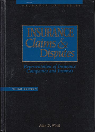 9780071727709: Insurance Claims and Disputes: Representation of Insurance Companies and Insured