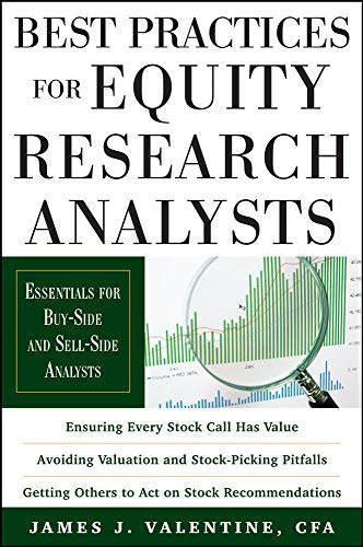 9780071736381: Best Practices for Equity Research Analysts: Essentials for Buy-Side and Sell-Side Analysts