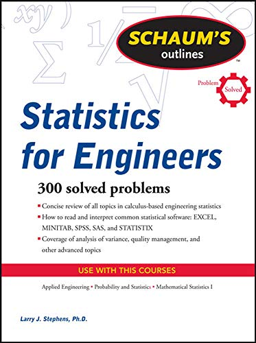 9780071736466: Schaum's Outline of Statistics for Engineers (Schaums' Outline Series)