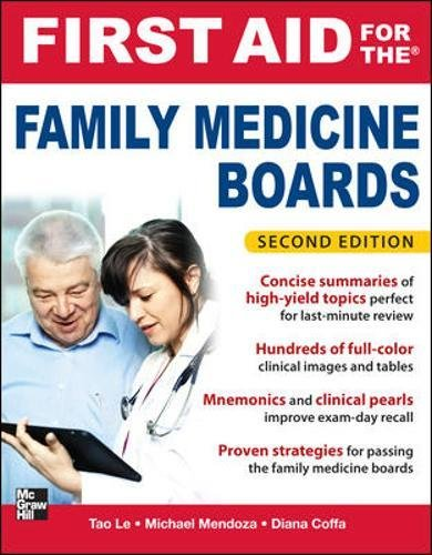 9780071737265: First Aid for the Family Medicine Boards, Second Edition (1st Aid for the Family Medicine Boards)