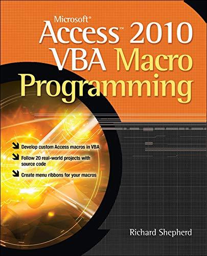 9780071738576: Microsoft Access 2010 VBA Macro Programming