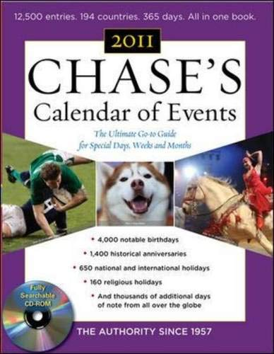 9780071740265: Chase's Calendar of Events, 2011 Edition: The Ultimate Go-to Guide for Special Days, Weeks and Months