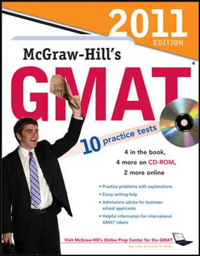 9780071740333: McGraw-Hill's GMAT with CD-ROM, 2011 Edition (McGraw-Hill's GMAT (W/CD))