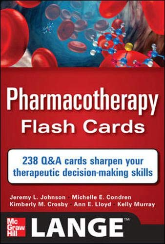 9780071741156: Pharmacotherapy Flash Cards