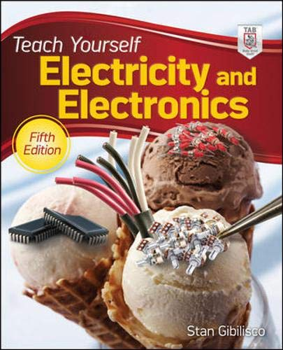 Electricity and Electronics 9780071741354 Up-to-date, easy-to-follow coverage of electricity and electronics In Teach Yourself Electricity and Electronics, Fifth Edition, a master teacher provides step-by-step lessons in electricity and electronics fundamentals and applications. Detailed illustrations, practical examples, and hundreds of test questions make it easy to learn the material quickly. This fully revised resource starts with the basics and takes you through advanced applications, such as communications systems and robotics. Solve current-voltage-resistance-impedance problems, make power calculations, optimize system performance, and prepare for licensing exams with help from this hands-on guide. Updated for the latest technological trends: Wireless Systems Fiber Optics Lasers Space Communications Mechatronics Comprehensive coverage includes: Direct-Current Circuit Basics and Analysis * Resistors * Cells and Batteries * Magnetism * Inductance * Capacitance * Phase * Inductive and Capacitive Reactance * Impedance and Admittance * Alternating-Current Circuit Analysis, Power, and Resonance * Transformers and Impedance Matching * Semiconductors * Diode Applications * Power Supplies * Bipolar and Field-Effect Transistors * Amplifiers and Oscillators * Digital and Computer Basics * Antennas for RF Communications * Integrated Circuits * Electron Tubes * Transducers, Sensors, Location, and Navigation * Acoustics and Audio Fundamentals * Advanced Communications Systems Make Great Stuff! TAB, an imprint of McGraw-Hill Professional, is a leading publisher of DIY technology books for makers, hackers, and electronics hobbyists.