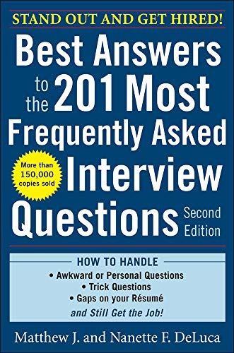 9780071741453: Best Answers to the 201 Most Frequently Asked Interview Questions, Second Edition (Business Skills and Development)