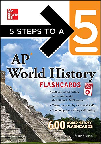 9780071741552: 5 Steps to a 5 AP World History Flashcards for your iPod with MP3 Disk (5 Steps to a 5 on the Advanced Placement Examinations Series)
