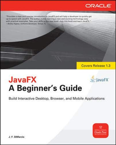 9780071742412: JavaFX A Beginners Guide
