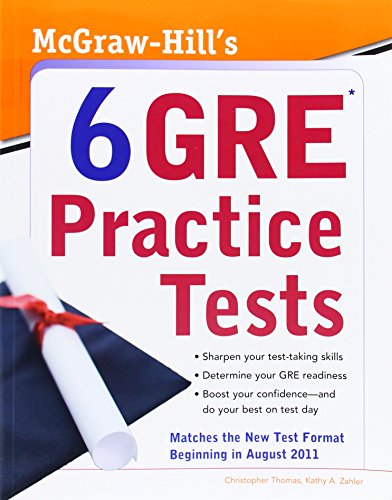 9780071743129: McGraw-Hill's 6 GRE Practice Tests