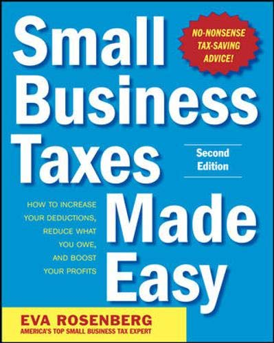 9780071743273: Small Business Taxes Made Easy, Second Edition