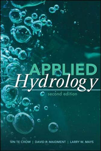 applied hydrology ven te chow solutions pdf