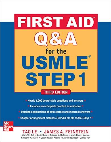 First Aid QA for the USMLE Step: Tao Le