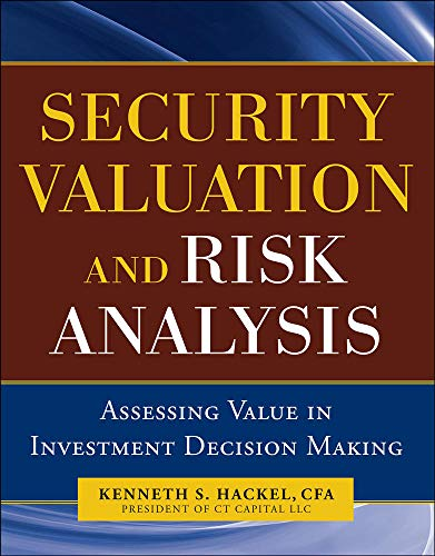9780071744355: Security Valuation and Risk Analysis: Assessing Value in Investment Decision-Making