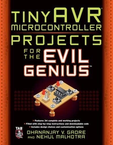 9780071744546: tinyAVR Microcontroller Projects for the Evil Genius